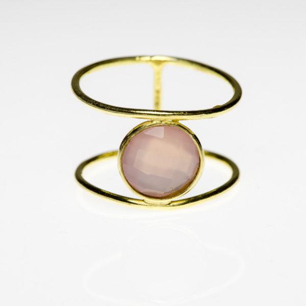 Pink Quarz Ring